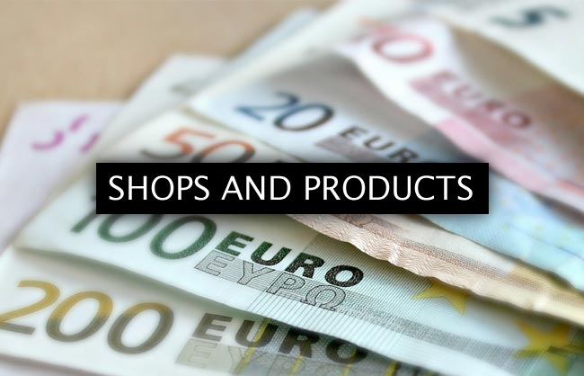 Shops and products
